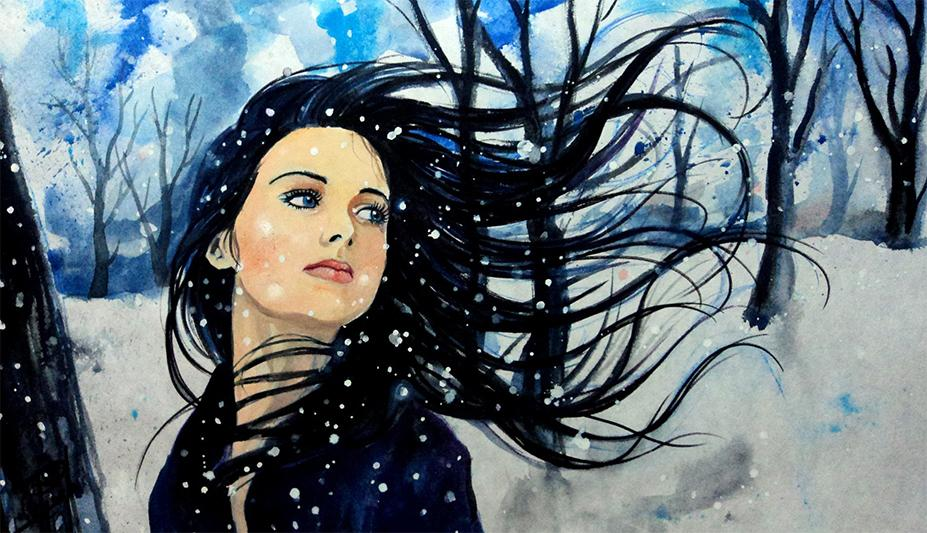 Great works of art depicting snow